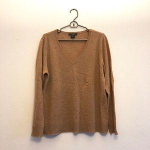 Ann Taylor 100% cashmere V neck sweater